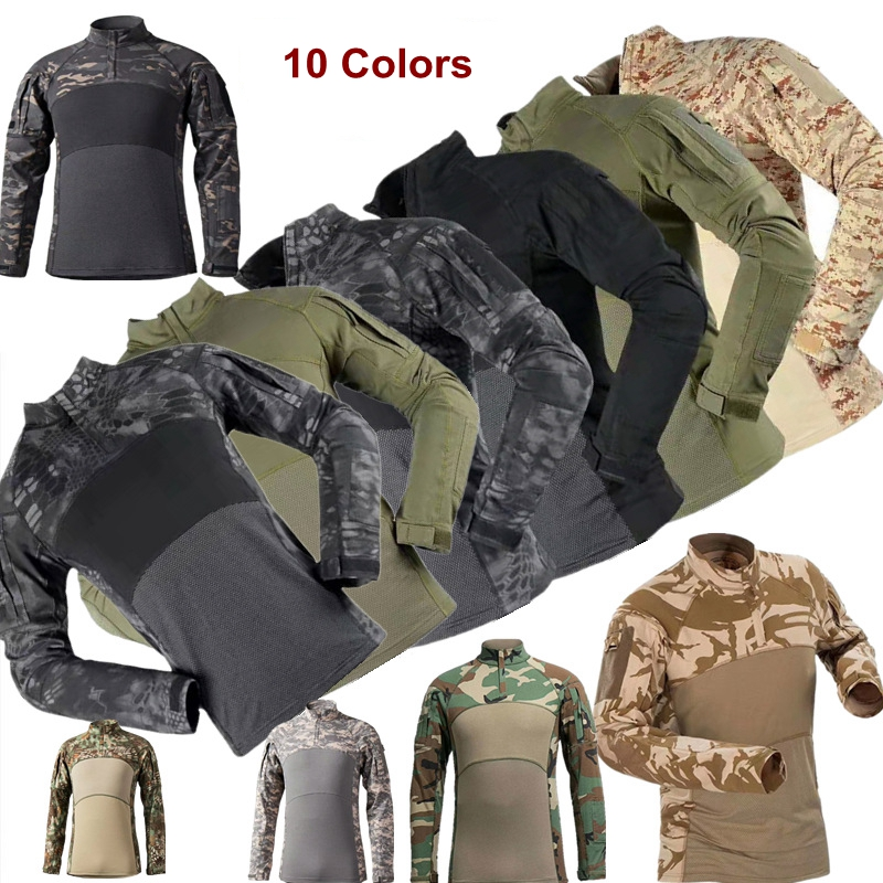 Outdoor Military Army G3 Combat Shirt Summer CS Breathable Camouflage T-Shirts Men Riding Shooting Climbing Tops