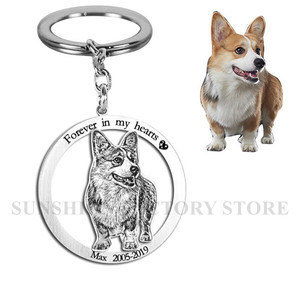 Image 5 - Custom Pet Necklace Personalized Pet Custom Memory Jewelry Photo Pendant Engrave Name 925 Sterling Silver Dog CAT Tag portrait