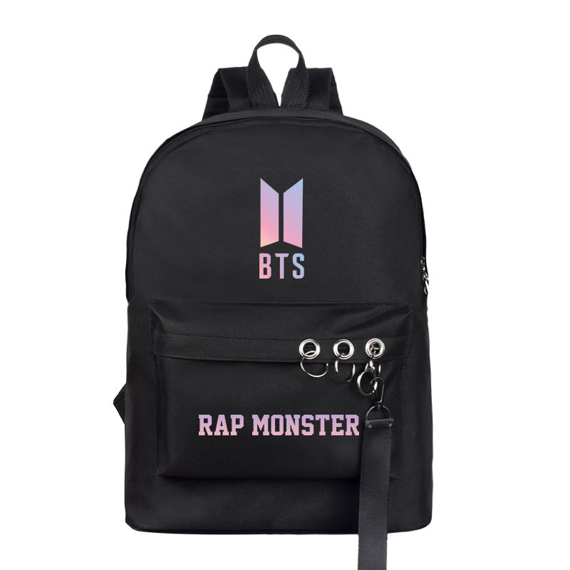 BTS School Bag Celebrity Inspired Related Canvas School Bag Korean-style Men's And Women's-Style Casual Backpack