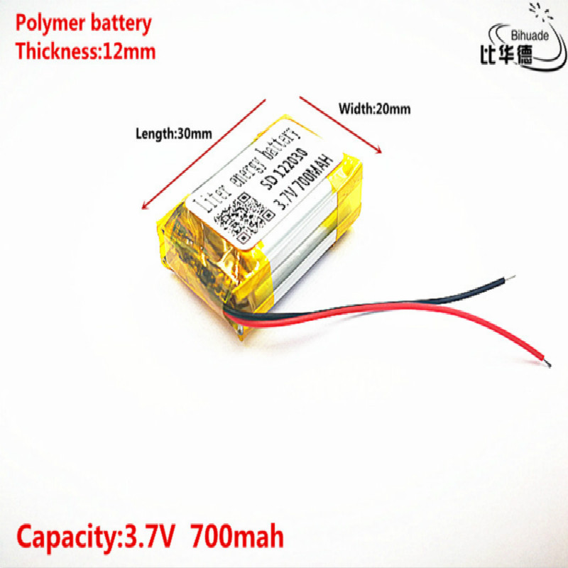 Good Qulity 3.7V,700mAH,<font><b>122030</b></font> Polymer lithium ion / Li-ion battery for TOY,POWER BANK,GPS,mp3,mp4 image