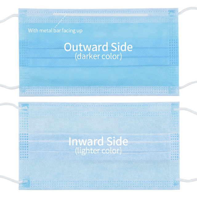 100pcs Blue Disposable Medical Mask Prevent Flu 3-Ply Filter Surgical Mask Health Protection Antibacterial  Masks Fast Delivery 3