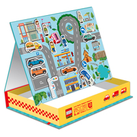 Original TAKARA TOMY 65/PCS Magnetic  Puzzle montessori  Car Traffic Sign Character Early Learning  Cognitive boy girl Toy gift