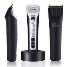 RUCHA Hair-Trimmer Barber Electric-Hair-Clipper Ceramic Blade Titanium Rechargeable Salon