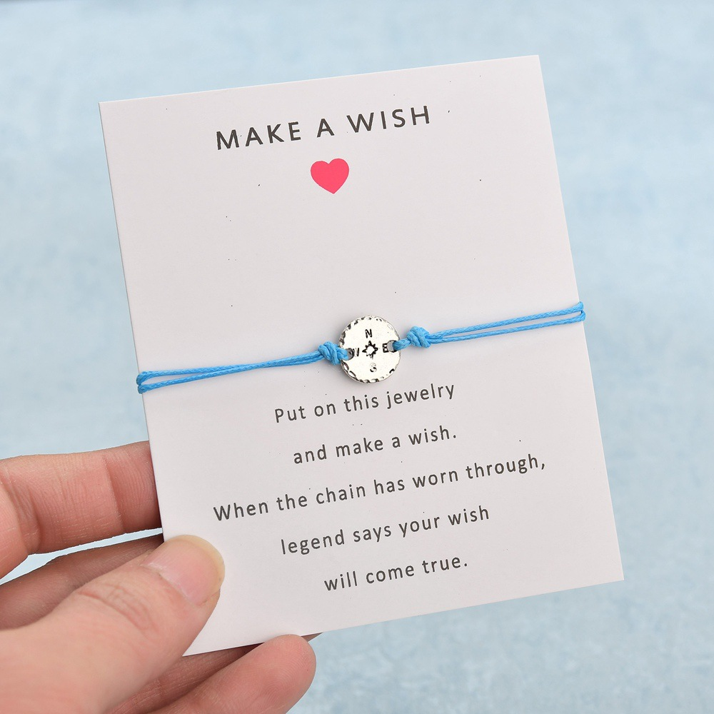 Make a Wish Dream Best Friends Thanksgiving Gift Grandma Granddaughters Aunt Niece Mother Daughters Compass Bracelets for Women in Chain Link Bracelets from Jewelry Accessories