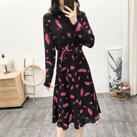2020 New Pink Lips Printted Women Knee length Dress Ladies V neck Sexy Beach Holiday Short Dresses Female Clothing