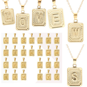 26 English Alphabet Pendant Necklace for Women Simple Fashion New Short Necklaces Clavicle Chain Female 2020 Trendy Jewelry