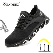 SUADEEX Indestructible Shoes Safety Men Breathable Anti-smashing Working Footwear Man Boots Sports Sneaker Outdoor