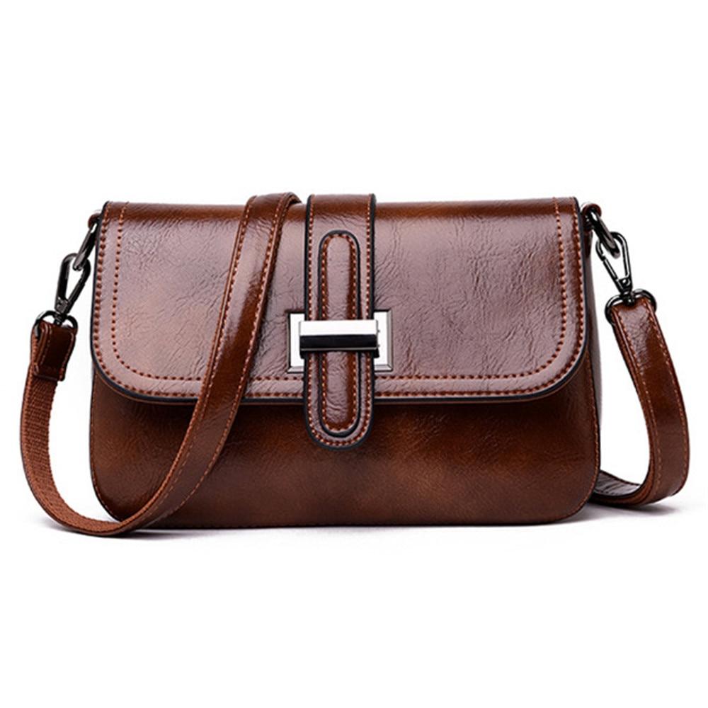 Image 2 - Vintage 3 in 1 Crossbody Bags For Women Messenger Bags 2019 Leather Luxury Handbags Women Bags Designer Sac A Main FemmeShoulder Bags   -