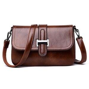 Image 2 - Vintage 3 in 1 Crossbody Bags For Women Messenger Bags 2019 Leather Luxury Handbags Women Bags Designer Sac A Main Femme