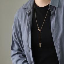 Простая Геометрическая цепочка на свитер amaiylliis 18 К золото
