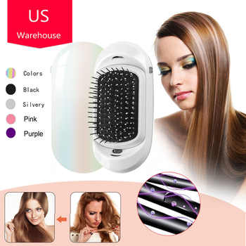 Ionic Hair brush, 2.0 Magic Portable Electric Ionic Hairbrush Upgrade Negative Ions Hair Brush Hair Styling Scalp Massage Comb