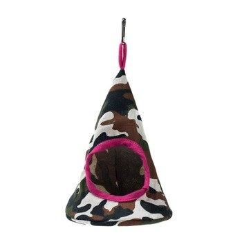 New 5 Colors Pet Cone Basket Birdhouse Hammock Plush Bird Toys Parrot Hammock Warm Hammock Pet Cave Cage Tent Toy House 3