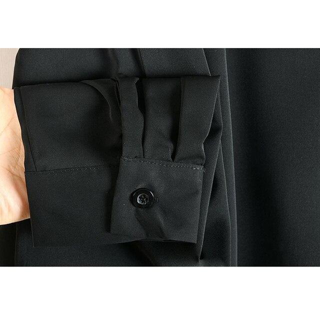 XITAO Europe Style Leopard Print Stitching Irregular Dress Women Long Sleeve Loose Plus Size Chiffon Dresses for Women WJ1018 4