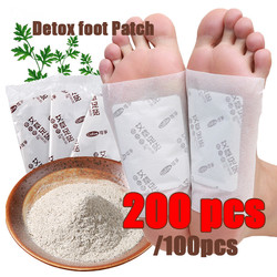 200pcs Foot Detox Patch Pads Body Plaster Patch foot sticker slimming foot patches bamboo foot pads improve sleep patch