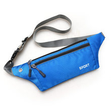 Sport Waist Pack Waterproof Nylon Bag for Men Women Carteira Fanny Pack Bum Bag Hip Money Belt Travel Mobile Phone Bag 32*10cm(China)