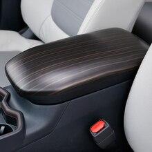 цена на Wood Decoration For Toyota RAV4 RAV 4 XA50 50 2019 2020 Car Center Console Seat Armrest Box Cover Central Arm Rest Panel Trim