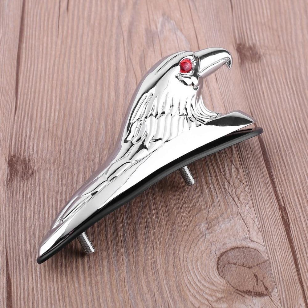 Новый хромированный орнамент в форме головы Орла для передних крыльев мотоцикла, мотоцикла и автомобиля