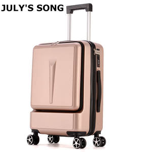 Boarding Suitcase Rolling-Luggage Travel-Bag Trolley Trunk 20inch Women JULY'SONG Password-Box