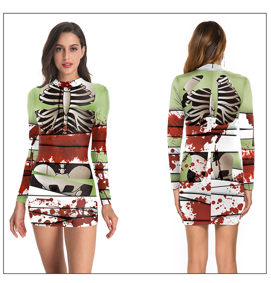 Ha4e9b489041b4d388574630bdc26aa46s - New Helloween Cosplay Scary Costume Dress for Adult Skeleton Bodysuit Carnival Party Performance Devil Hospital Ghost Women