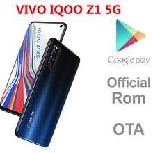 Dhl entrega rápida vivo iqoo z1 5g identificação da cara da impressão digital do telefone celular 6.57