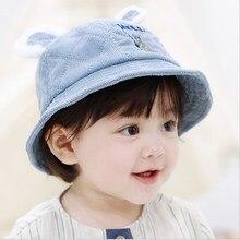 Cute Autumn Winter Baby Girl Boy Hat Cotton Soft Comfortable Kid Unisex Letter Bear Print