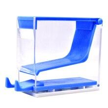 Стоматологический диспенсер для хлопковых рулонов, держатель для пресса, коробка синего цвета, пластиковый стоматологический инструмент, стоматологический ортодонтический