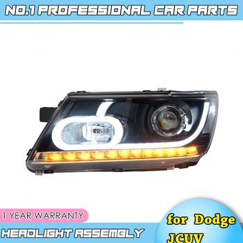 car accessories For Dodge JCUV 2009-2015 High Intensity Discharge Composite Headlight HID Light