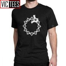 Camiseta The Seven Deadly Sins, camiseta del Dragón pecado de ira Meliodas para hombre, Otaku japonés de algodón de gran tamaño