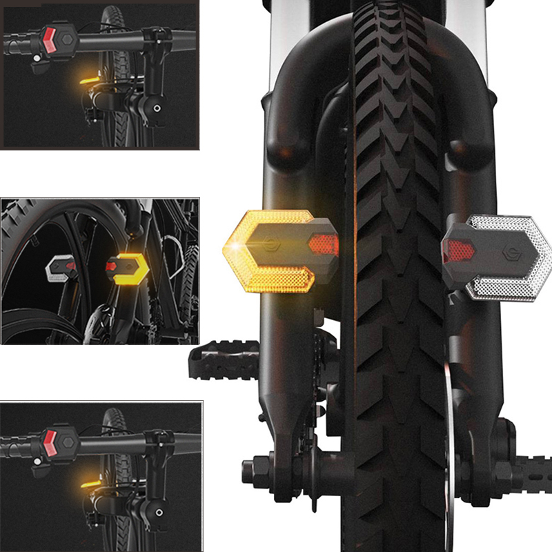 1set Front And Rear Light With Smart Wireless Remote Control Bike Turn Signals Bike Tail Light Cycling Safety Warning Light