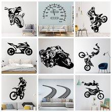 Креативные дорожные и мотоциклетные настенные наклейки для любителей