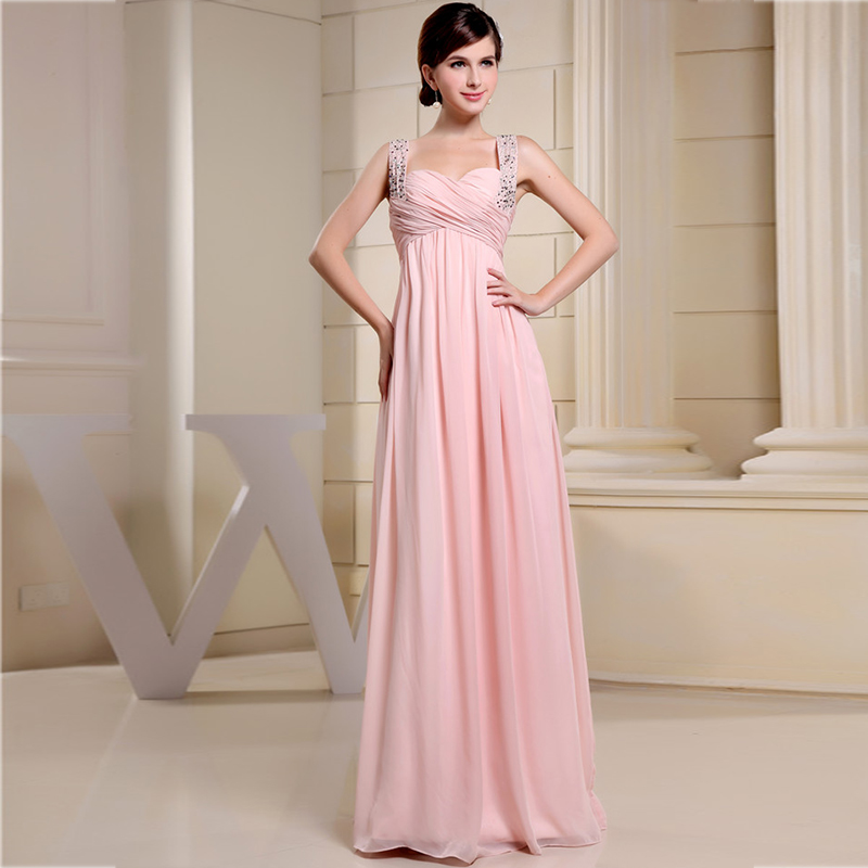 Elegant A-Line Sweetheart Beading Sequined Pink Dress Floor Length Prom Dresses Long Party Dresses Bridesmaid Dresses Plus Size