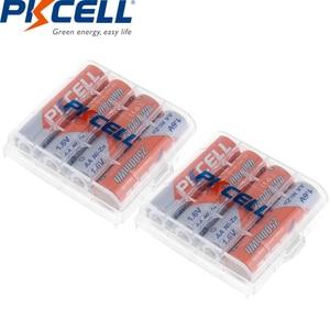 Image 2 - 8Pcs/PKCELL AA NIZN סוללה 1.6V 2500MWH AA נטענת סוללה 2A סוללות Baterias Bateria 2Pcs AA סוללה להחזיק מקרה תיבה