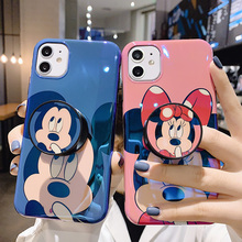Cute Cartoon Minnie Blue-ray Circus soft silicone Phone Case For iPhone 11 Pro max X Xs Max Xr 10 11 8 7 Plus bracket back Cover circus max