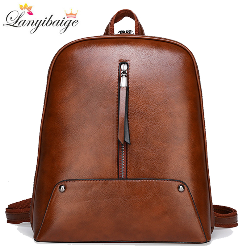 High Quality Leather Backpack Women Fashion School Bags For Grils Large Capacity Travel Backpack Shoulder Bags Back Pack Mochila