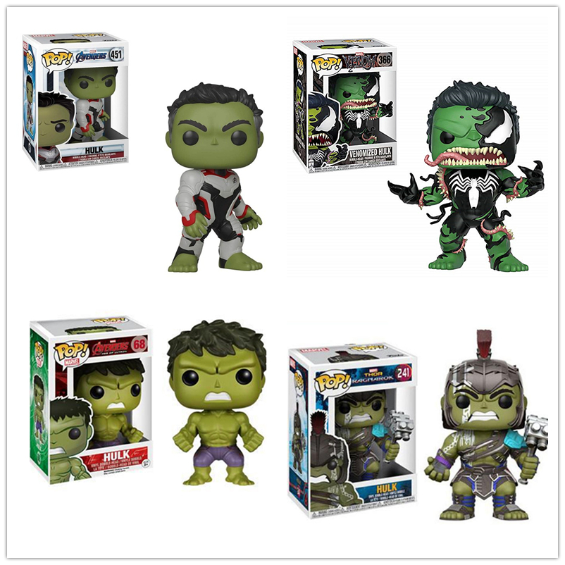 FUNKO POP The Avengers Hulk Action Figures Collectible Model Toys For Children Christmas Gifts