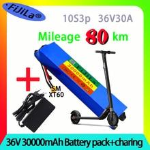 36 в 30 Ач 18650 литиевый аккумулятор 10S3P 30000 мАч 250 Вт-500 Вт один порт 42 в электрический скутер M365 электровелосипед аккумулятор с BMS