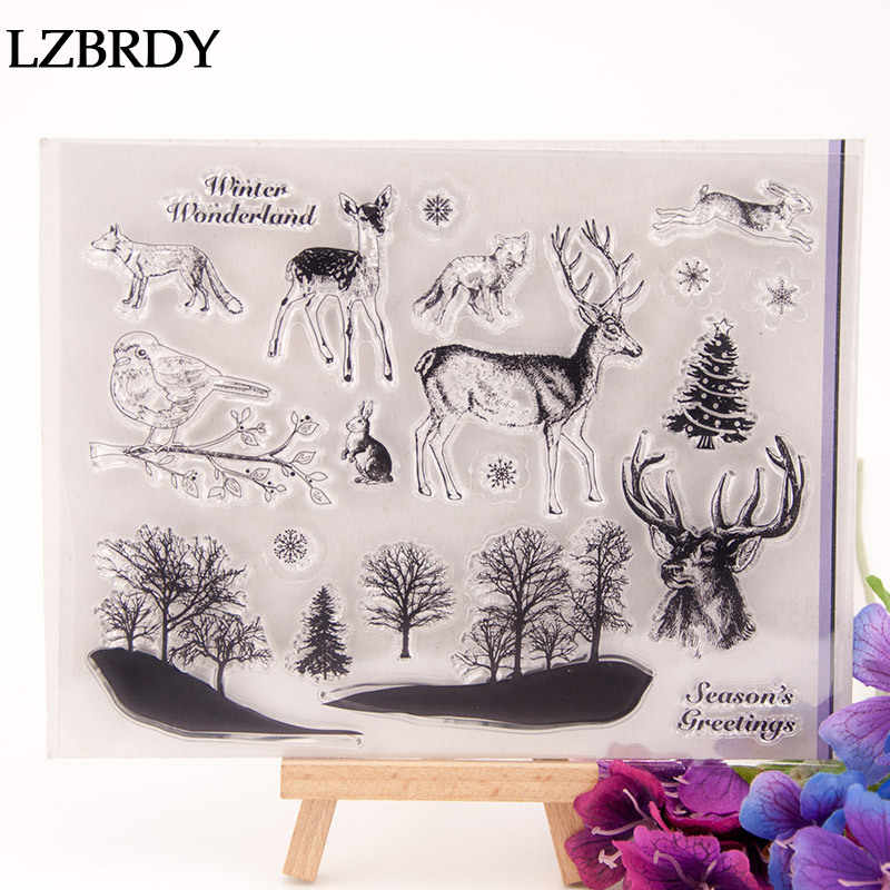 Bunny Wedding Dog Tree Flowers Transparent Clear Silicone Stamp Seal