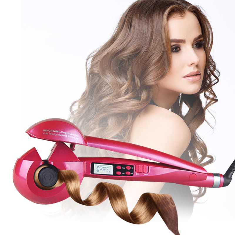 Automatic Hair Curler Magic Curling Iron LCD Screen Display Hair Styling Tools Wave Hair Styler Ceramic Heating Anti-perm