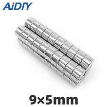 цена на AI DIY 20/50/100 pcs 9x5mm permanent magnet Mini small round super strong powerful neodymium magnets Disc 9*5mm