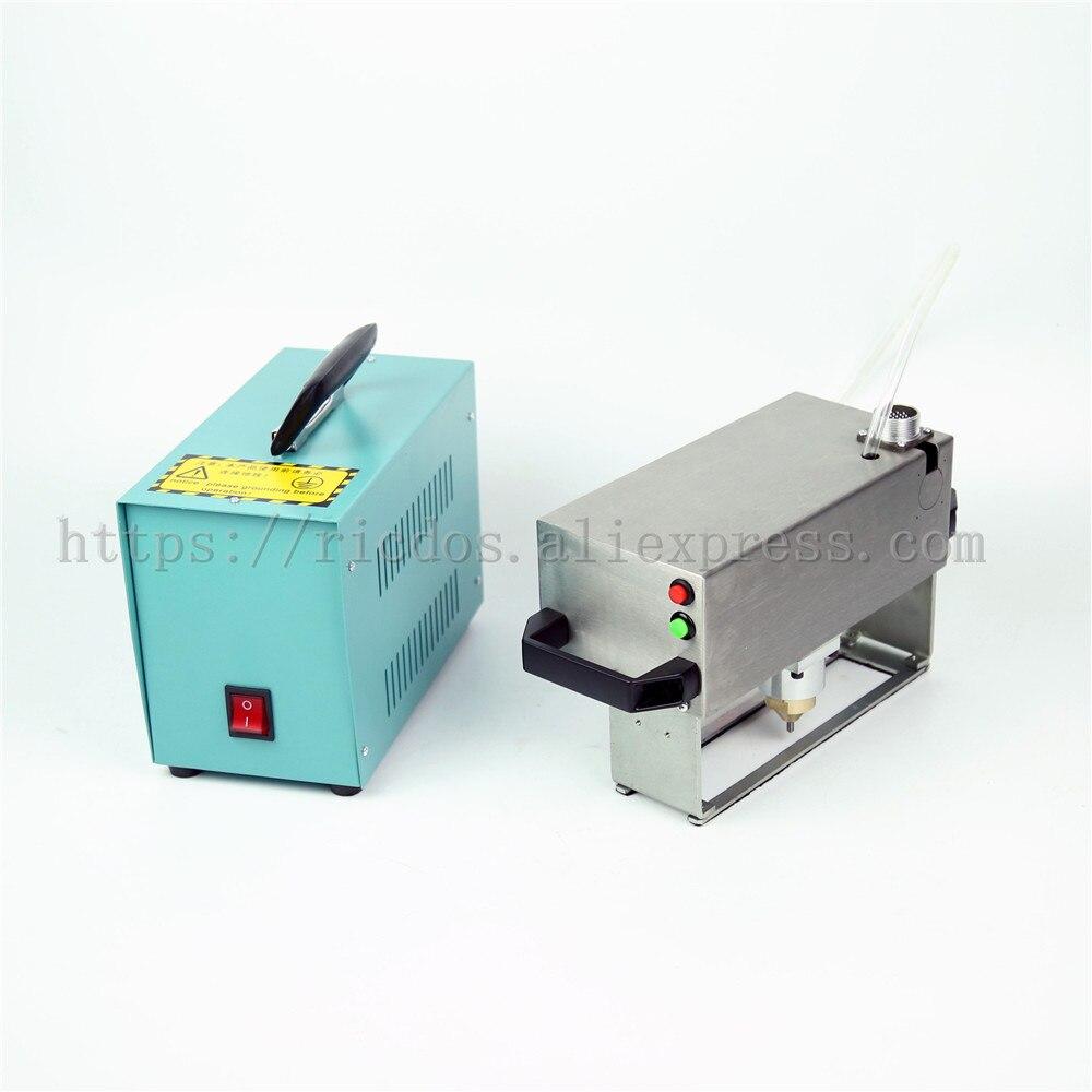 25x90/130mm Handheld pneumatic car chasiss number,motor bike VIN number printer,BateRpak Portable industrial tag machine