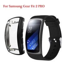 Dla Samsung Gear Fit 2 PRO Band bransoletka TPU skrzynki pokrywa dla Samsung Band Fit 2 SM R360 osłona ochronna biegów fit 2 Protect Case