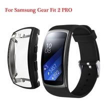 สำหรับ Samsung Gear Fit 2 PRO สร้อยข้อมือ TPU สำหรับ Samsung พอดี 2 SM R360 ป้องกันเกียร์ fit 2 ป้องกันกรณี