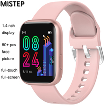 цена на MISTEP Bluetooth Smart Watch 1.4inch Full Touch Color Screen Heart Rate Blood Monitor Smartwatch 40mm Multi-watch face