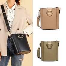 FamousDesignerBrand Luxury Classic Crossbody Bag Fashion Bucket Bag Ladies Shoulder Bags Genuine Leather Cowhide Buckle Women