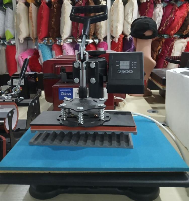 30*38 Cm 8 In 1 Combo Warmte Persmachine Sublimatie Printer 2D Thermische Overdracht Pen Doek Cap Mok plaat T shirt Drukmachine - 4