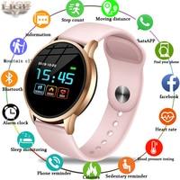 LIGE Smart Watch Women Sport Smart IP67 Waterproof Fitness Tracker Blood Pressure Heart Rate Monitor Pedometer Active Bracelet