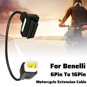 Diagnostics 6 Pin to OBD2 16 Pin Adaptor Cable Motorcycle Fault Detection Connector Fits for Benelli Cable Diagnostic Adapter image