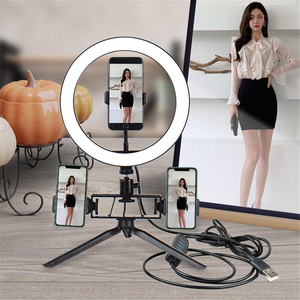 Photographic Lighting USB charge LED Selfie Ring Light Supplementary Lighting Selfie Enhancing Fill Light For Youtube Tiktok