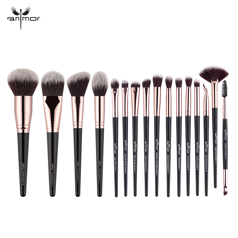 Anmor 4-16Pcs Makeup Brushes Set Professional Eyeshadow Foundation Blush Powder Eyeliner Eyelash Lip Make Up Brush Cosmetic Tool