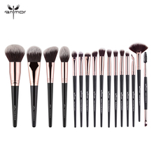 Anmor 4-16Pcs Makeup Brushes Set Professional Eyeshadow Foundation Blush Powder Eyeliner Eyelash Lip Make Up Brush Cosmetic Tool jessup buy 3 get 1 gift makeup brushes set foundation blush liquid kabuki eyeshadow eyeliner lip contour make up brush smudge